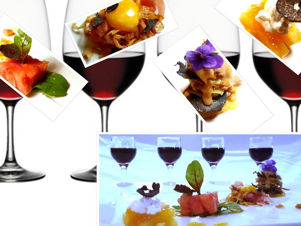 LA HUELLA, LAGUNA DE GALLOCANTA, BERRUECO (ZARAGOZA). 4 Sor-Bo-Kados de Trufa maridados con 4 vinos de la DO Calatayud.