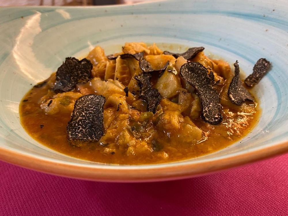 TABERNA MORRETE (Zaragoza), Callos de ternera en salsa de trufa.